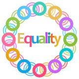 Anelli variopinti di uguaglianza circolari Fotografie Stock Libere da Diritti
