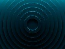 Anelli vibranti blu per web design, la carta da parati, la progettazione moderna, l'insegna commerciale e l'applicazione del cell Fotografia Stock Libera da Diritti