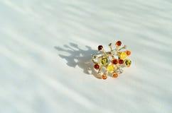 Anello ambrato Fotografie Stock