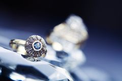 Anello & rocce fotografie stock