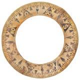 Anello antico autentico della carta della bussola della nave usato per navigazione Immagini Stock Libere da Diritti