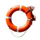 Anello arancio della salvavita Immagine Stock Libera da Diritti