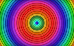 Anello astratto con i colori dell'arcobaleno Immagini Stock