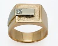 Anello con i diamanti Fotografie Stock