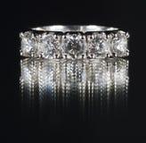 Anello con i diamanti Immagine Stock Libera da Diritti