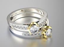 Anello con il diamante Fondo dei gioielli di modo immagine stock