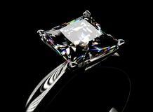Anello con il diamante Fondo dei gioielli di modo Immagine Stock Libera da Diritti