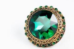 Anello con la gemma verde Fotografia Stock Libera da Diritti