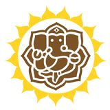 Anello coronato In del signore Ganesha Immagine Stock Libera da Diritti