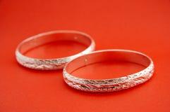 Anello d'argento Fotografia Stock