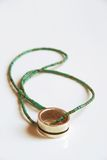 Anello d'argento con la collana autentica del turchese Fotografie Stock Libere da Diritti