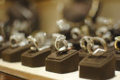 Anello d'argento dei gioielli Fotografia Stock