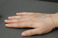 Anello d'argento del fiocco di neve immagini stock libere da diritti