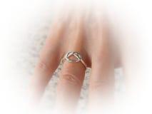 Anello d'argento del nodo Fotografie Stock
