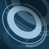 anello 3D su fondo blu Fotografia Stock