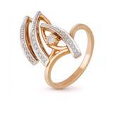 Anello dei gioielli con i diamanti su fondo bianco Fotografie Stock Libere da Diritti