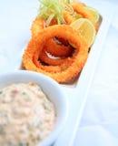 Anello del calamaro croccante Fotografia Stock Libera da Diritti