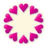 Anello del cuore Immagine Stock Libera da Diritti