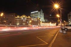 Anello del giardino a Mosca di notte Fotografia Stock