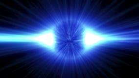 Anello del plasma su un fondo scuro Moto astratto 4K Tecnologia, palla della sfera del cerchio di energia illustrazione di stock