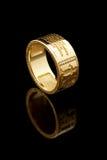 Anello del randello dell'oro Fotografie Stock Libere da Diritti