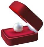 Anello della casella con le perle Immagini Stock Libere da Diritti