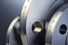 Anello della flangia del metallo Fotografie Stock