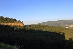 Anello della montagna del cielo della natura fotografie stock libere da diritti