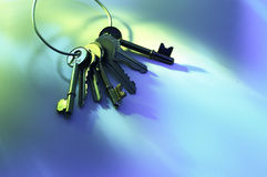 Anello delle chiavi Fotografia Stock Libera da Diritti