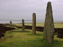 Anello delle isole di Orkney del cerchio della pietra di Brodgar Fotografie Stock Libere da Diritti