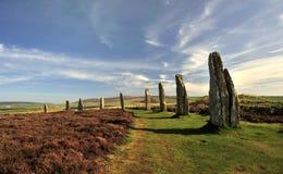 Anello di Brodgar, henge neolitico, Orkney Immagine Stock Libera da Diritti