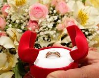 Anello di cerimonia nuziale Fotografie Stock