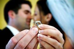 Anello di cerimonia nuziale Immagine Stock