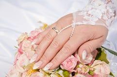Anello di cerimonia nuziale dorata Fotografie Stock