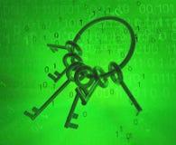 Anello di chiavi virtuale Fotografia Stock Libera da Diritti