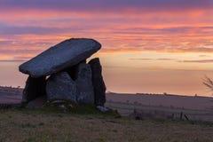 Anello di corda di Trethevy, monumento antico, Cornovaglia, Regno Unito Fotografie Stock