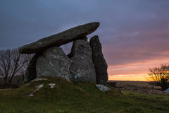 Anello di corda di Trethevy, monumento antico, Cornovaglia, Regno Unito Fotografie Stock Libere da Diritti
