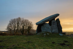 Anello di corda di Trethevy, monumento antico, Cornovaglia, Regno Unito Immagini Stock Libere da Diritti