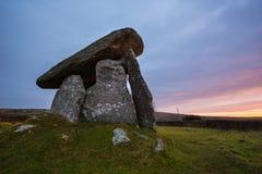 Anello di corda di Trethevy, monumento antico, Cornovaglia, Regno Unito Fotografia Stock