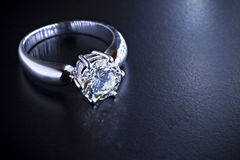 Anello di diamante Fotografie Stock
