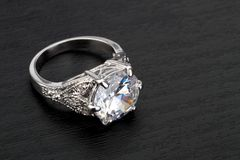 Anello di diamante Fotografia Stock