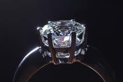 Anello di diamante Fotografie Stock Libere da Diritti