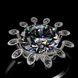 anello di diamante 3d Fotografie Stock Libere da Diritti