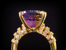 Anello di diamante classico Fotografia Stock