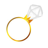 Anello di diamante di aggancio Fotografia Stock
