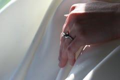 Anello di diamante di cerimonia nuziale immagine stock libera da diritti