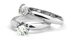 Anelli di diamante Fotografie Stock Libere da Diritti