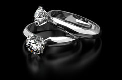 Anelli di diamante Immagine Stock Libera da Diritti