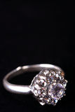 Anello di diamante, monili Immagine Stock