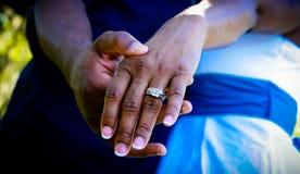 Anello di fidanzamento fotografia stock libera da diritti